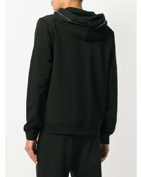 Versace Collection Zipped Hooded Jacket