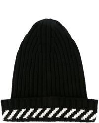 Black Horizontal Striped Beanie