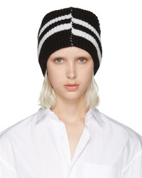 Black Horizontal Striped Beanie