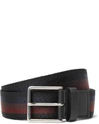 Paul Smith 35cm Leather Trimmed Striped Webbing Belt