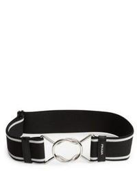 Prada Striped Elastic Belt