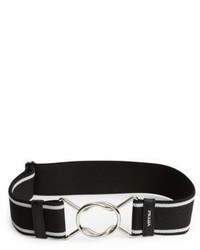 Prada Striped Elastic Belt