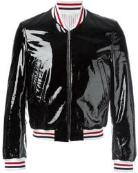 Thom Browne Striped Detail Bomber Jacket