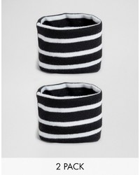 Asos Pack Of 2 Jersey Stripe Bracelets Co Ord
