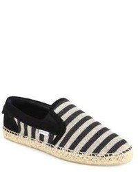 Jimmy Choo Vlad Striped Canvas Espadrille Slip Ons