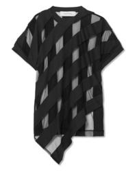 MARQUES ALMEIDA Striped Devor Chiffon T Shirt