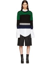 Raf Simons Black Wool Stripes Sweater