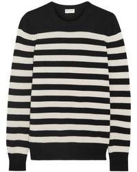 Striped cashmere sweater black medium 5084107