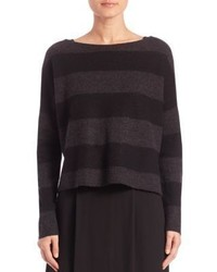 Eileen Fisher Striped Merino Wool Top