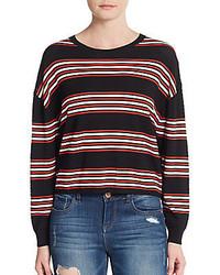 Theory Desrina Perforated Stripe Sweater