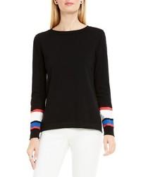 Vince Camuto Petite Stripe Cuff Sweater