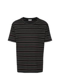 Saint Laurent Striped Short Sleeve T Shirt