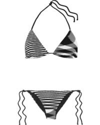 Missoni Mare Donna Striped Crochet Knit Triangle Bikini