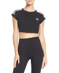 adidas 3 Stripes Crop Top