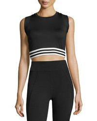 LAmade Cropped Muscle Tank Black