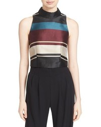 London josla stripe crop top medium 801539
