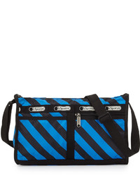 Black Horizontal Striped Crossbody Bag