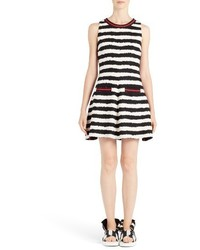 MSGM Stripe Fit Flare Dress