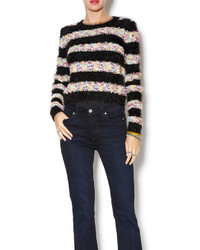 Lulumari rainbow stripe sweater medium 123594