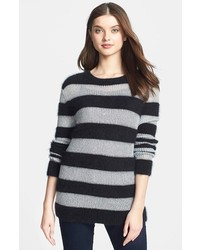Michl michl kors metallic stripe angora blend sweater medium 123596