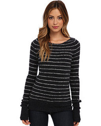 Misty stripe pullover sweater medium 123595