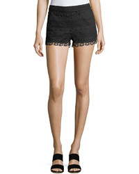 French Connection Castaway Striped Lace Mini Shorts