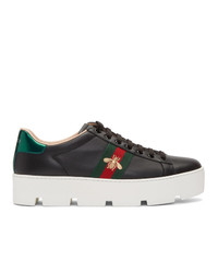 Gucci Black Ace Platform Sneakers