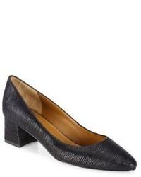Aquatalia Phoebe Striped Leather Block Heel Pumps