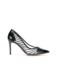 Giorgio Armani Striped Pointed Pumps