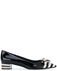 Salvatore Ferragamo Striped Toe Pumps