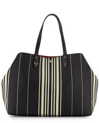 Tory Burch Kerrington Striped Square Tote Bag