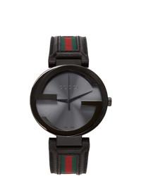 Gucci Black Interlocking G Watch