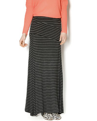 Mystree Black Grey Stripe Maxi
