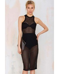 Nasty Gal Aint Seen Nothin Yet Sheer Tank Dress