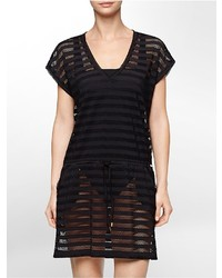 Calvin Klein Mesh Stripe Cover Up