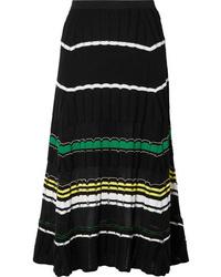 Proenza Schouler Striped Stretch Knit Midi Skirt