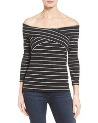 Vince Camuto Mini Stripe Off The Shoulder Top