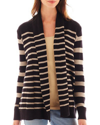Ana ana long sleeve striped open cardigan medium 201046