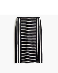 J.Crew Tall Mixed Stripe Pencil Skirt