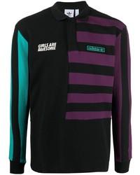 adidas Striped Print Polo Shirt