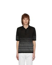 Saint Laurent Black And Silver Lurex Polo
