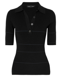 Proenza Schouler Ribbed Polo Top
