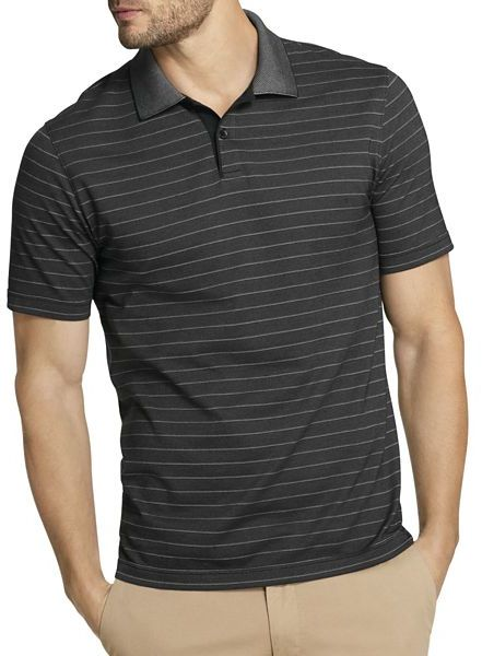 c96745e9bba6 Men s Fashion › T-shirts › Polos › jcpenney › Van Heusen › Black Horizontal  Striped Polos Van Heusen Short Sleeve Thin Striped Polo