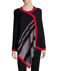 Asymmetric striped poncho medium 340290