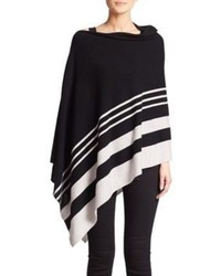 Saks Fifth Avenue Collection Striped Cashmere Poncho