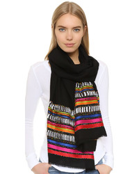 Black Horizontal Striped Scarf