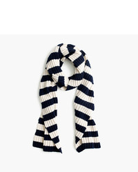 J.Crew Ribbed Striped Cashmere Scarf