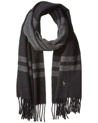 Polo Ralph Lauren Wool Blanket Stripe Scarf Scarves