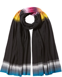 Missoni Wool Scarf With Stripe Detailing