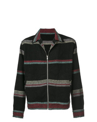 The Elder Statesman Stripe Zipped Jacket